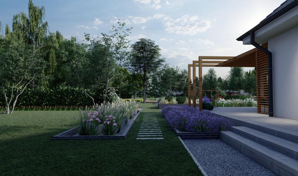 ogród nowoczesny realizacje