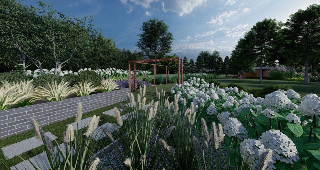 nowoczesny ogród realizacje